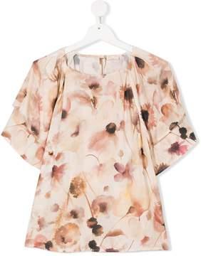 Elisabetta Franchi La Mia Bambina floral print blouse