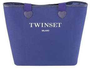 Twin-Set Women's Blue Cotton Tote.