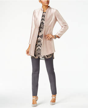 Alfani Metallic Zip-Detail Jacket, Created for Macy's