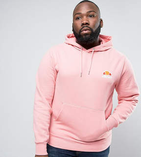Ellesse PLUS Hoodie With Small Logo In Pink