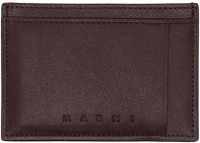 Marni Burgundy and Orange Card Holder