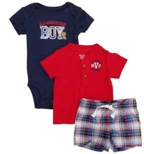 Carter's Infant Boys 3-Piece All American Boy Bodysuit T-Shirt & Short Set