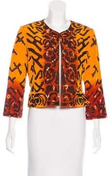 Oscar de la Renta Embroidered Structured Jacket