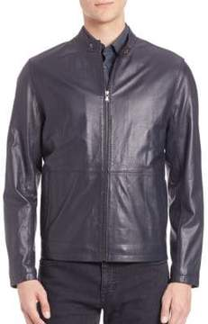 Saks Fifth Avenue COLLECTION Zipper Leather Jacket