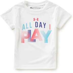 Under Armour Little Girls 2T-6X Short-Sleeve All Day I Play Tee