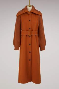 Chloé Wool coat knit sleeves