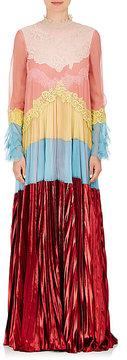 Valentino Women's Tiered Georgette & Velvet Gown