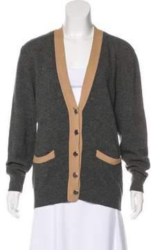 Aquascutum London Lambswool Button-Up Cardigan
