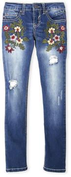 Vigoss Girls 7-16) Garden of Flower Skinny Jeans
