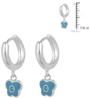 Ice Girls' Sterling Silver Butterfly Huggie Hoop Earrings
