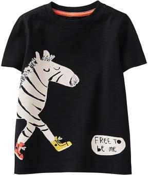 Gymboree Black 'Free to Be Me' Zebra Tee - Infant, Toddler & Boys