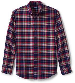 Lands' End Lands'end Men's Traditional Fit Long Sleeve Pattern Flagship Flannel Shirt