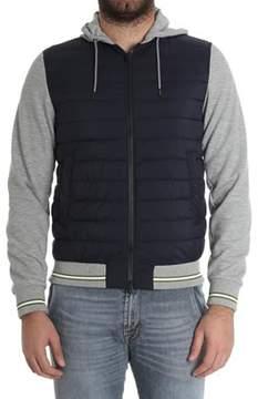 Herno Men's Blue/grey Polyamide Down Jacket.