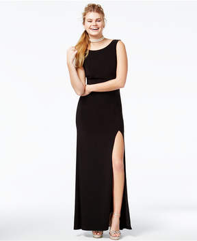 B. Darlin Juniors' Embellished Low-Back Gown
