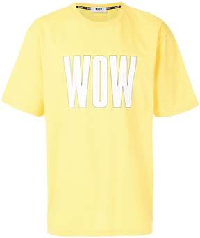 MSGM Wow printed T-shirt