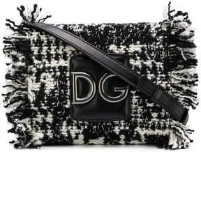 Dolce & Gabbana fringed tweed shoulder bag