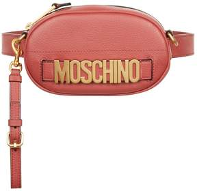 Moschino Leather Logo Belt Bag