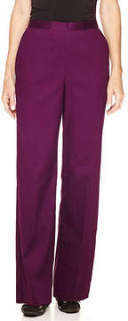 Alfred Dunner Textured Pull-On Pants
