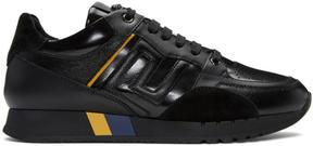 Versace Black Leather Runner Sneakers