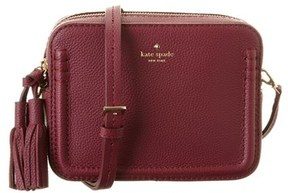 Kate Spade Orchard Street Arla Leather Shoulder Bag. - BURGUNDY - STYLE