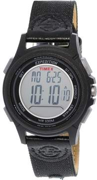 Timex Men's Expedition TW4B09900 Black Leather Quartz Sport Watch