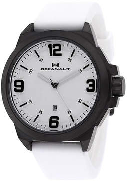 Oceanaut Mens Armada White Rubber Strap Watch