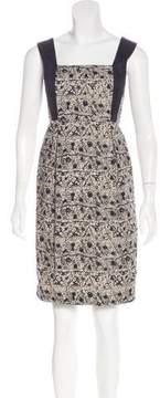 Adam Sleeveless Floral Print Dress