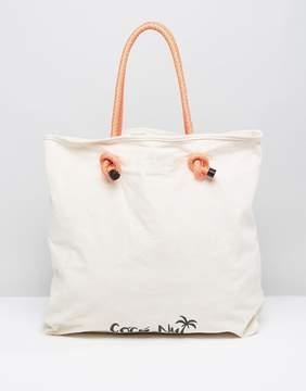 Pull&Bear Coconut Print Shopper Bag