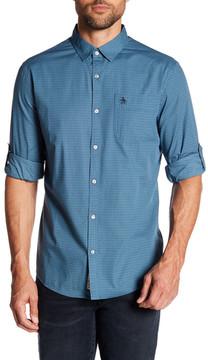 Original Penguin Slim Fit Geo Print Long Sleeve Button Down Shirt