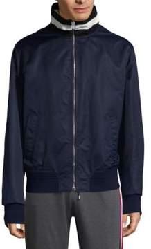 Bally Zippered Rib-Knit Jacket