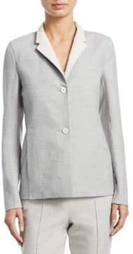 Akris Oberon Reversible Wool Blazer