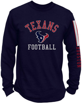 Authentic Nfl Apparel Men's Houston Texans Spread Formation Long Sleeve T-Shirt