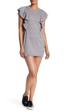 C&C California Cora Ruffle Detail Shift Mini Dress