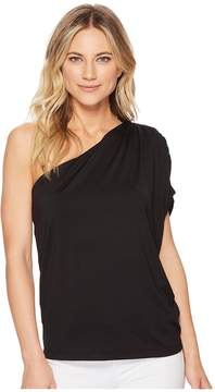 Susana Monaco Darcy Gathered Shoulder Top Women's Clothing