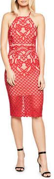 Bardot Mila Lace High-Neck Dress