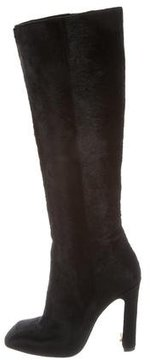 Calvin Klein Collection Ponyhair Knee-High Boots