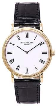 Patek Philippe Calatrava 5120J 18K Yellow Gold White Dial Automatic 35mm Mens Watch