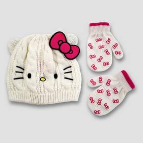 Hello Kitty Handwear And Headwear Sets White