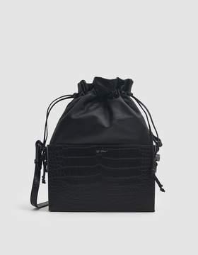 Off-White Off White Croc Soft Boxy Bag in Black