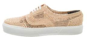 Robert Clergerie Raffia Lace-Up Sneakers