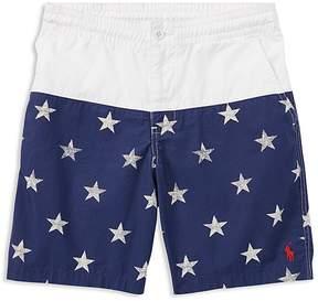 Polo Ralph Lauren Boys' Star-Print Poplin Shorts - Big Kid