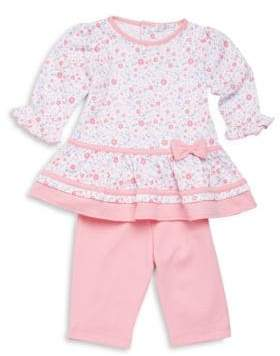 Kissy Kissy Baby's Blossoms Two-Piece Floral-Print Dress & Leggings Set