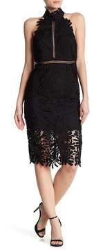 Bardot Kara Halter Lace Dress