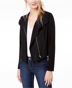 Bar III Knit Moto Jacket, Created for Macy's