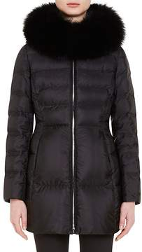 Prada Women's Fur-Trimmed Down-Quilted Puffer Coat