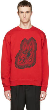 McQ Red Bunny Clean Sweatshirt
