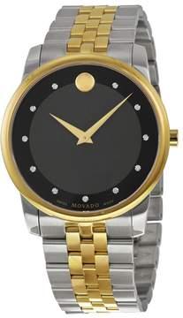 Movado Museum Black Dial Two-tone Men's Watch