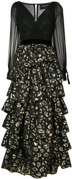 Christian Pellizzari tiered animal print dress