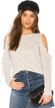 White + Warren Open Laced Sweater