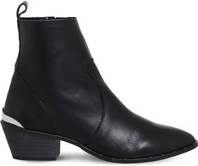 Office Leighton unlined leather Western boots